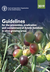 Guidelines for the prevention, eradication and containment of Xylella fastidiosa