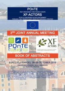 POnTE | XF-ACTORS 3rd Joint Annual Meeting | Ajaccio 2019 | Book of abstracts